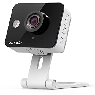 Zmodo True HD Mini WiFi Wireless Wide Angle Indoor Home Video Security Camera Two-Way Audio, Cloud Service Available (Renewed)