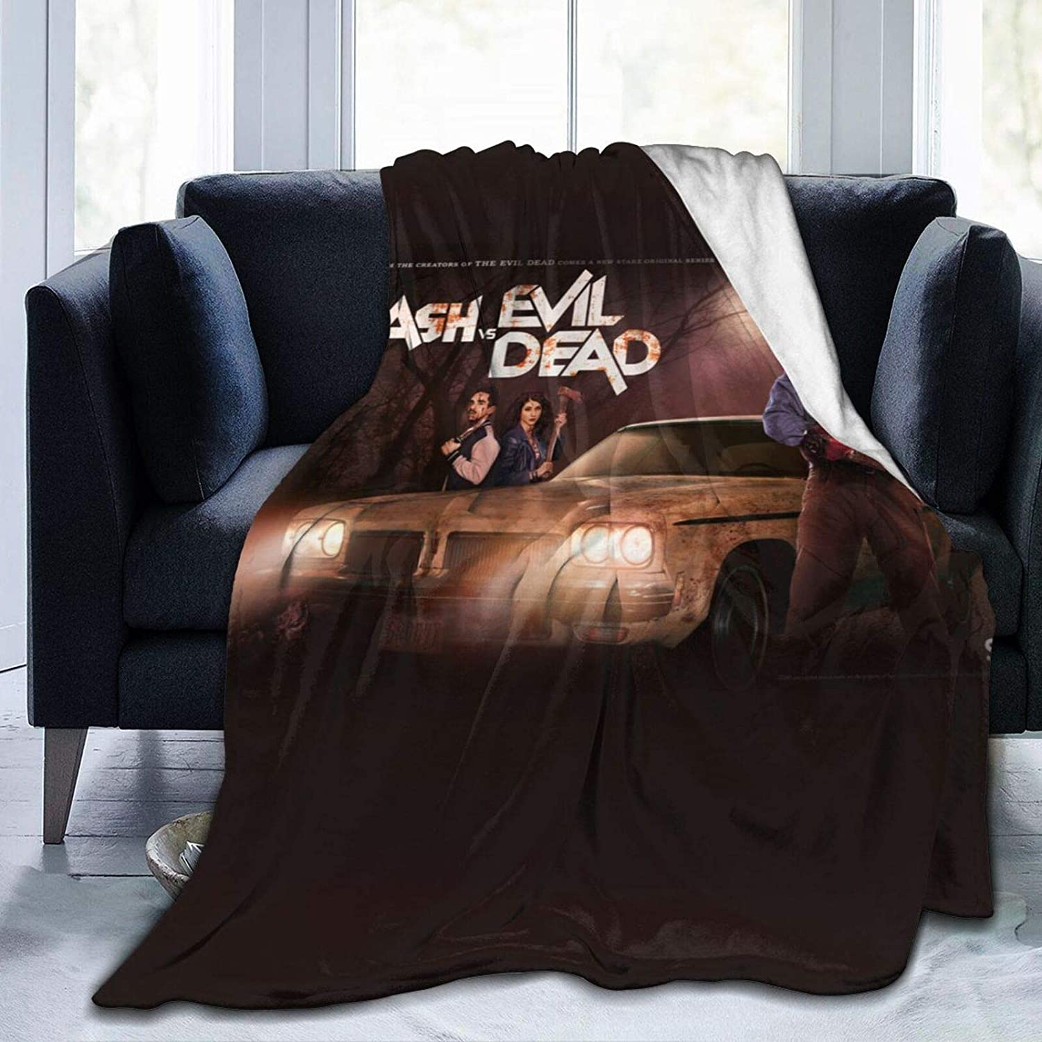 KRR Blanket Throw Evil Dead Soft Blanket Plush Fluffy Durable Home Decor Perfect for Couch Sofa Beds Living Room(60