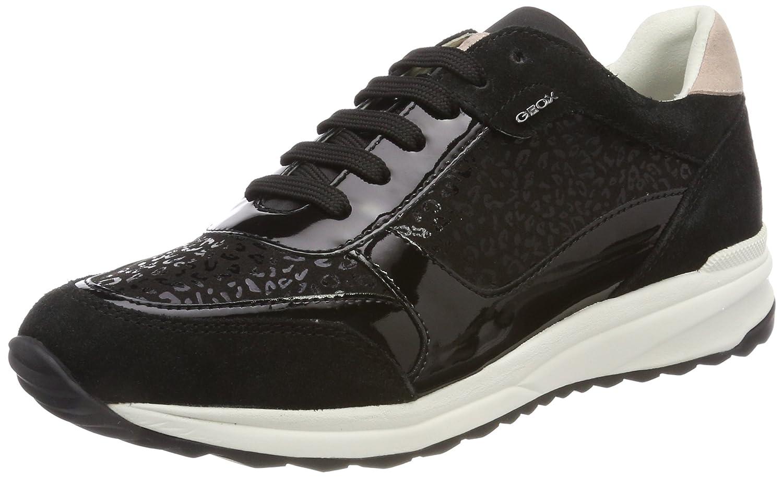 Geox D Airell C, Zapatillas para Mujer 37 EU|Negro (Black)