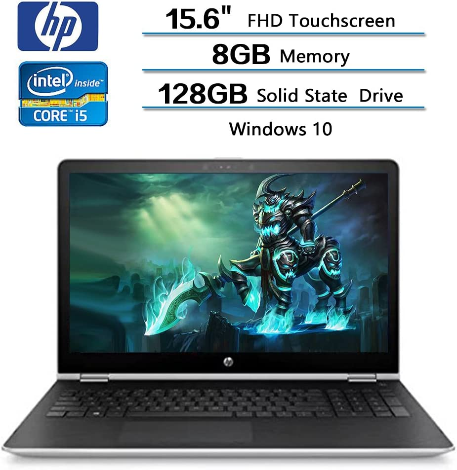 HP x360 2-in-1 Convertible Laptop 15.6 FHD Touchscreen, Intel Core i5-7200U, 8GB RAM, 128GB SSD, AMD Radeon 530 2GB Dedicated Graphics, Windows 10, Stylus Pen Included