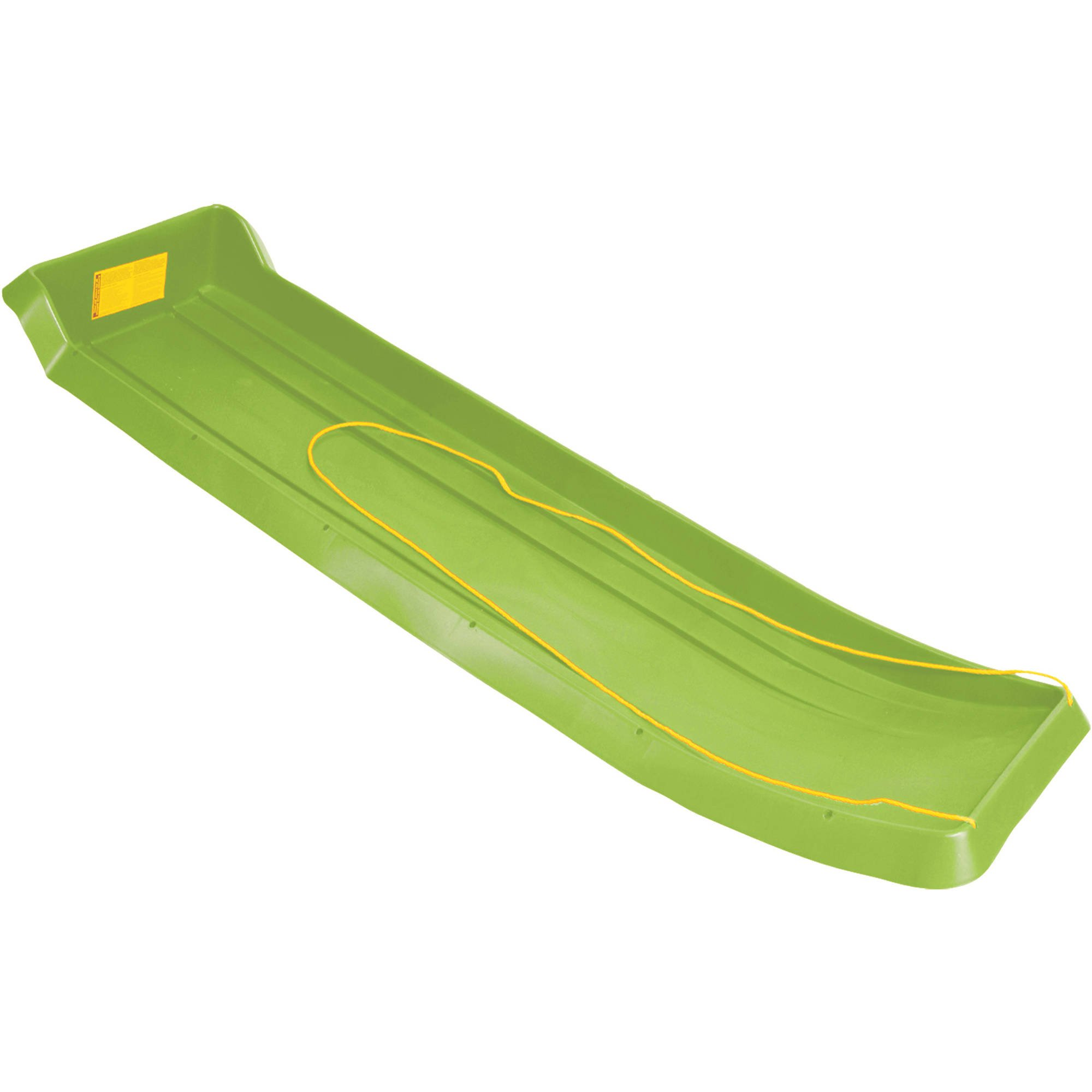 Emsco ESP Series 66 in. Family Fun 4-Rider Toboggan Sled in Lime Green
