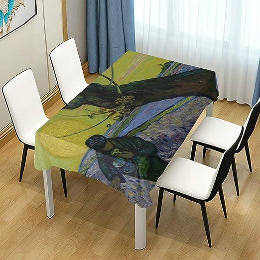 DEZIRO Mantel para Mesa Van Gogh The Sower en poliéster Lavable ...