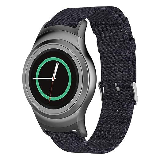 Hombre Mujer Reloj Correa De Reloj De Tejido para Samsung Gear S2 Sm-R720 /