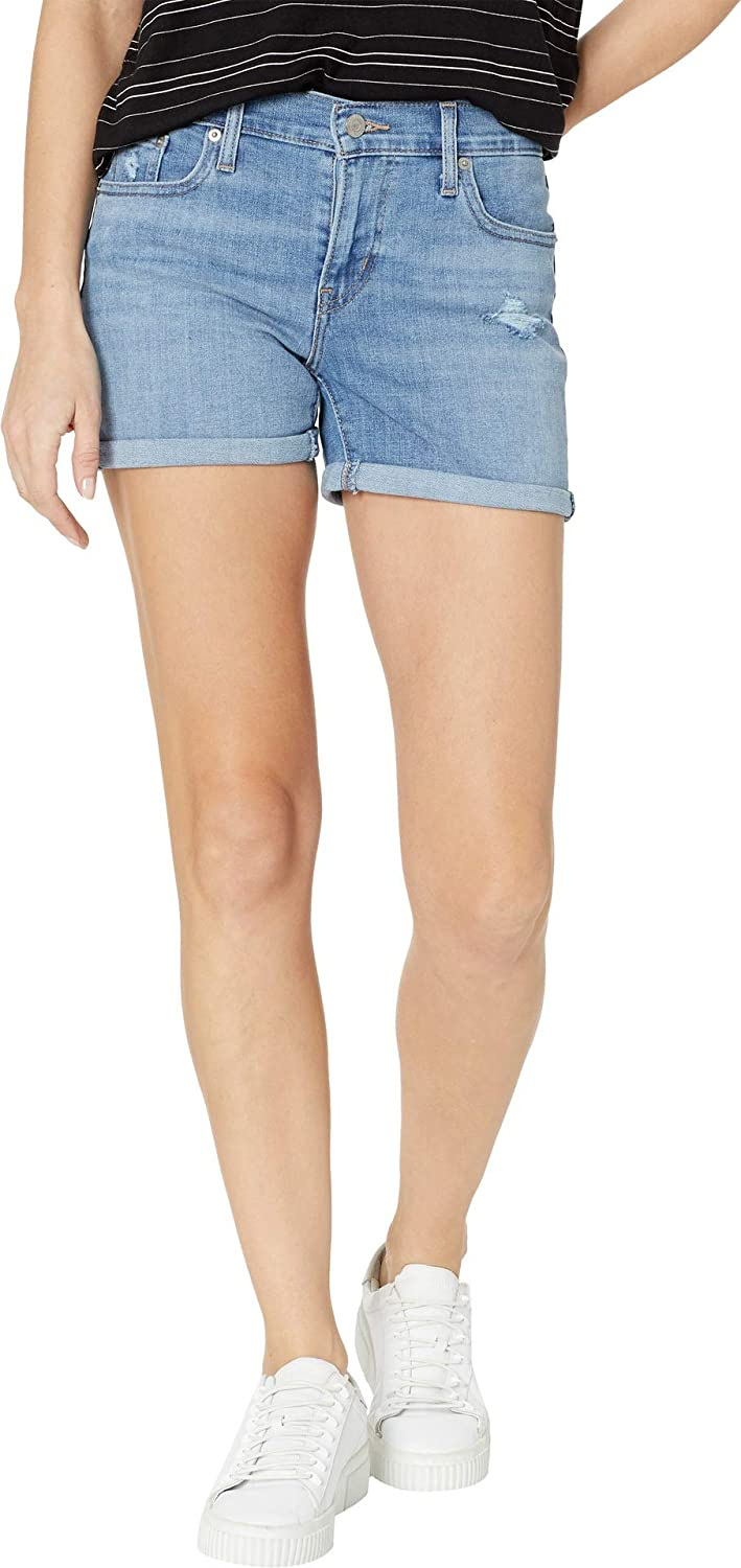 48b3e7c6b0 Levi's Women's Mid Length Shorts at Amazon Women's Clothing store: