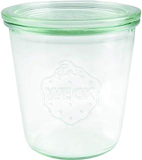 Weck 6 Unidades Tarro de Cristal de 580 ml con Tapa Junta y Clips Apto para la Olla