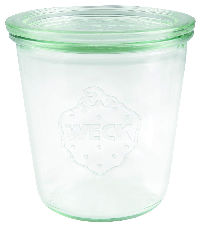 einweck de calidad, con Tapa de cristal para cocer Resistente al calor Microondas. Aptas para horno redonda cristal 6/unidades transparente Weck 900/Cristal 0,5/l Bormioli Fido