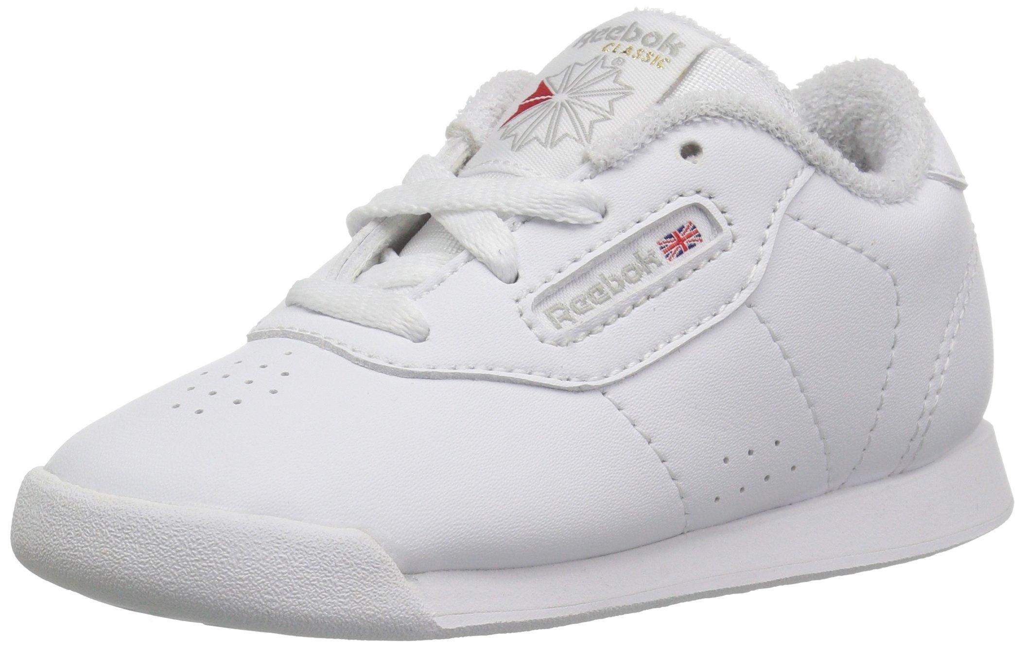 Reebok Unisex Princess Sneaker, White/Grey, 12.5 M US Little Kid