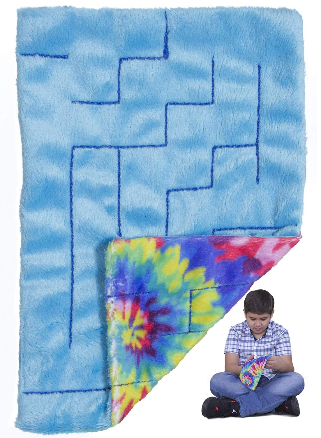 Sensory Fidget Stress Relief Toys: LAKIKID Marble Maze Mat- Tactile Sensory Toys for Children & Adults- Ideal Fidget Toys for Sensory Kids- Reduce Stress, Anxiety and Improve Focus, 9'' x 6'' by LakiKid