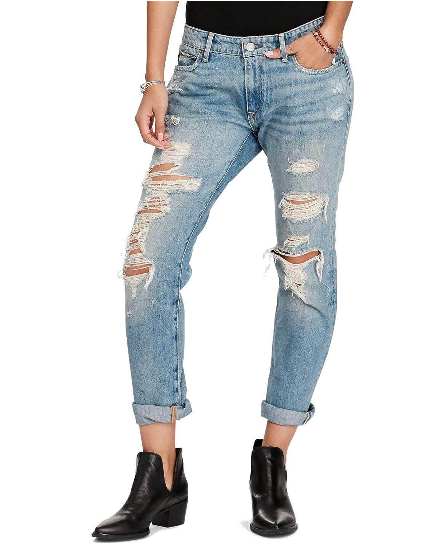 23c889ac3 RALPH LAUREN Denim   Supply Women s Grove Skinny Boyfriend Jeans (Patton