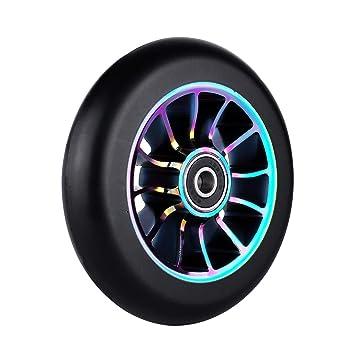 Rueda de aleación para patinete de 110 mm con rodamientos ABEC 9, compatible con patinetes profesionales MGP, Razor, Lucky, JD Bug