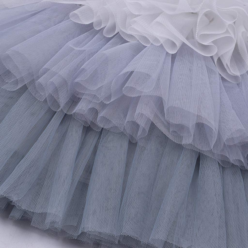 Girls Child Wedding Birthday Party Dresses Clothes for 3-10 Years Old Teen Tulle Tutu Layered Princess Dress