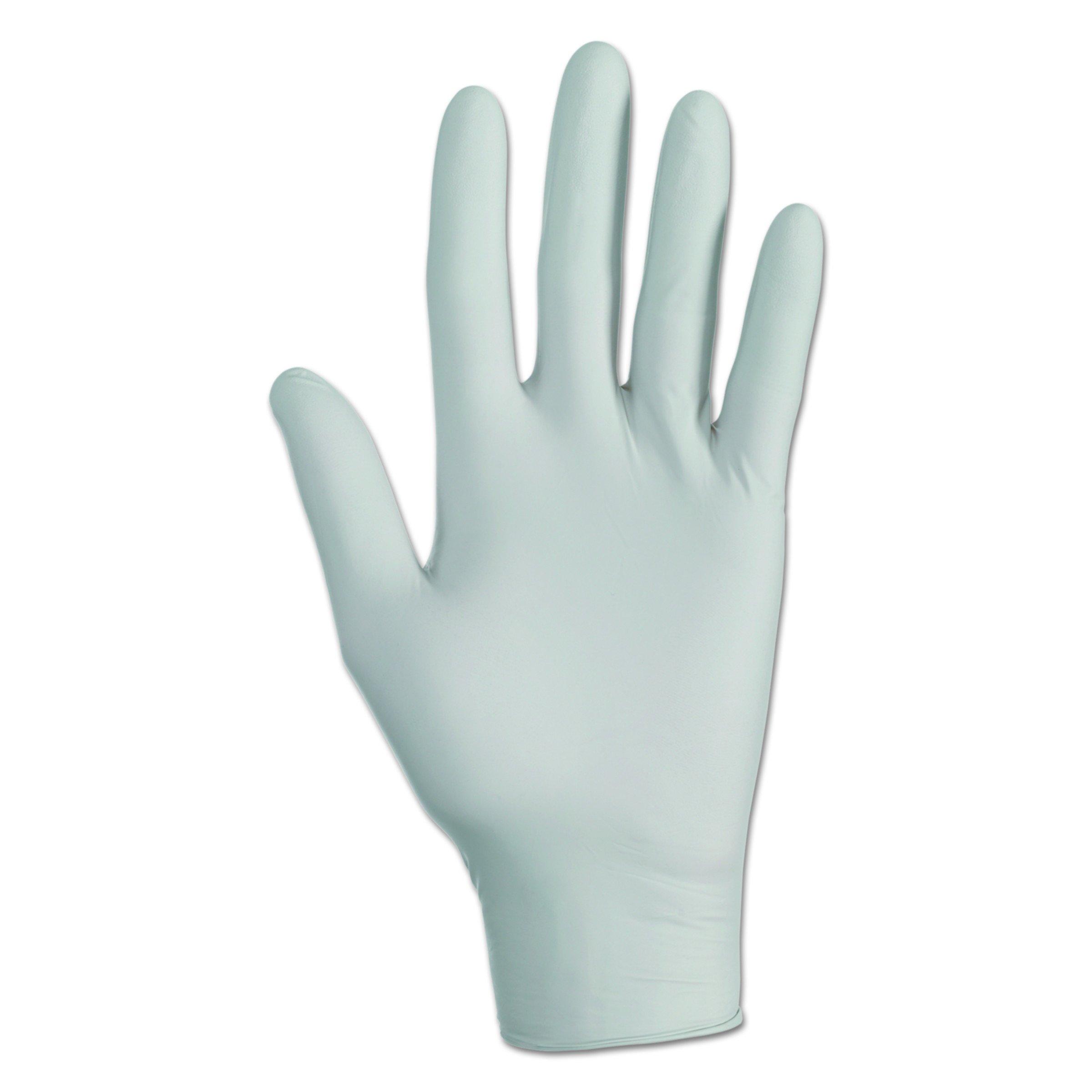 Kleenguard G10 Grey Nitrile Gloves (97823), Large, Powder-Free , Ambidextrous , Thin Mil, 50% More / Case, 150 Gloves / Box, 10 Boxes / Case