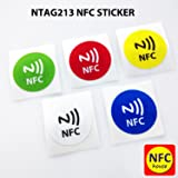 NFC House Ntag203 NFC Tag Sticker Printed 30 mm Round (Set of 5)