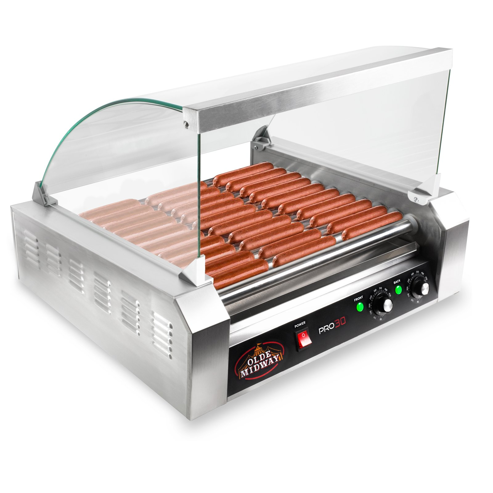 Olde Midway ROLL-PRO30-CVR Grill Cooker Machine, 24.3 x 21.9 x 14.2 inches, gray by Olde Midway