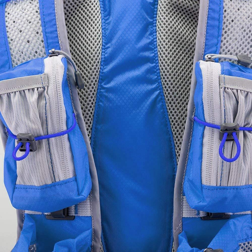 ZHYY Mochila de hidrataci/ón Mochila Mochila Bolsa 12L Marathoner Running Race Chaleco de hidrataci/ón Mochila de Senderismo para Acampar Viajes de Caza con Paquete de hidrataci/ón,Blue