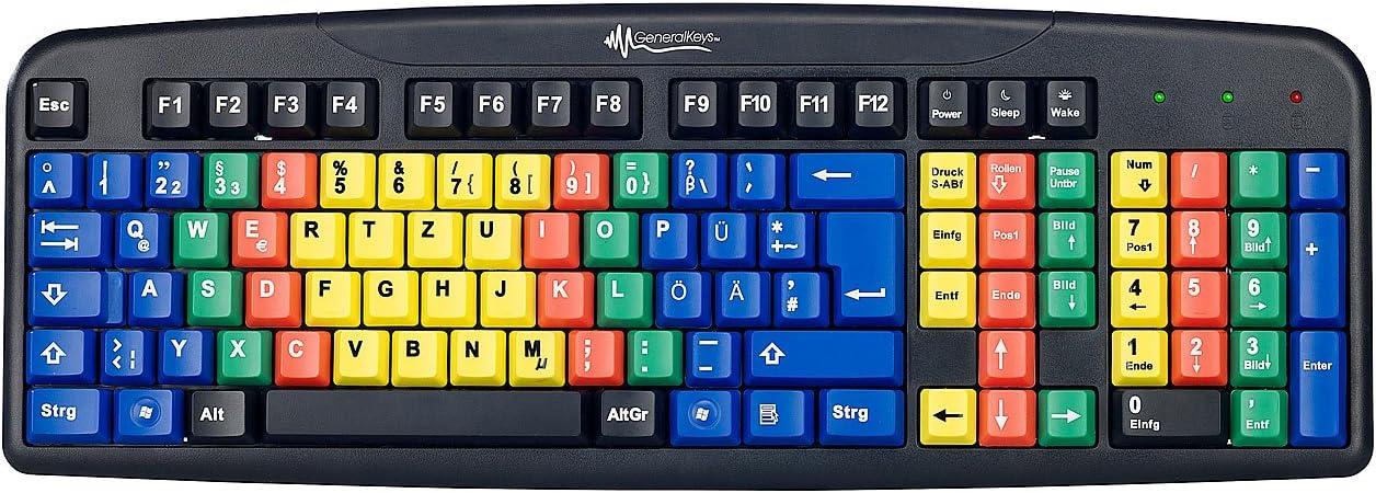 GeneralKeys – USB de teclado para sistema 10 dedos de ejercicios y software
