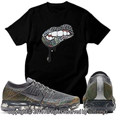 2a5ca16536fb Custom T Shirt Matching Nike AIR Vapormax Plus Flyknit Running Gray  AVP-1-44-2 at Amazon Men s Clothing store