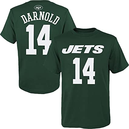 b4775be4228 OuterStuff Sam Darnold New York Jets  14 Youth Name   Number Player T-Shirt