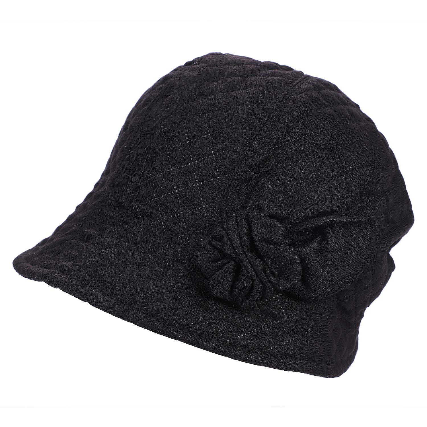 9bc38962c0f ITODA Women Bucket Hat with Visor Cloche Fall Winter Warmer Fedora Cap  Breathable Casual Packable Lady Protection Outdoor Slouchy Headwear with  Headband