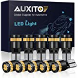 AUXITO 194 LED Light Bulb, Amber Yellow 168 2825 W5W T10 Wedge 24-SMD 3014 Chipsets LED Replacement Bulbs for Car Dome…