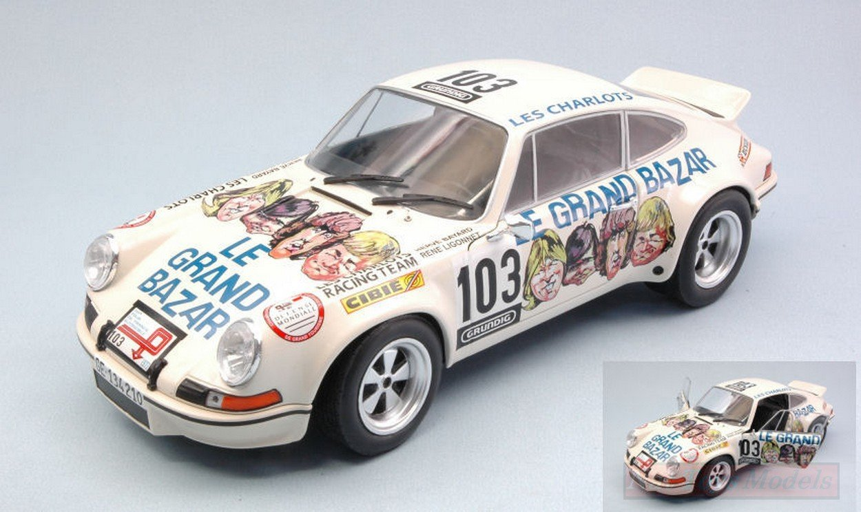 SOLIDO SL1801106 PORSCHE 911 RSR LE GRAND BAZAR TOUR DE FRANCE AUTO 1973 1:18