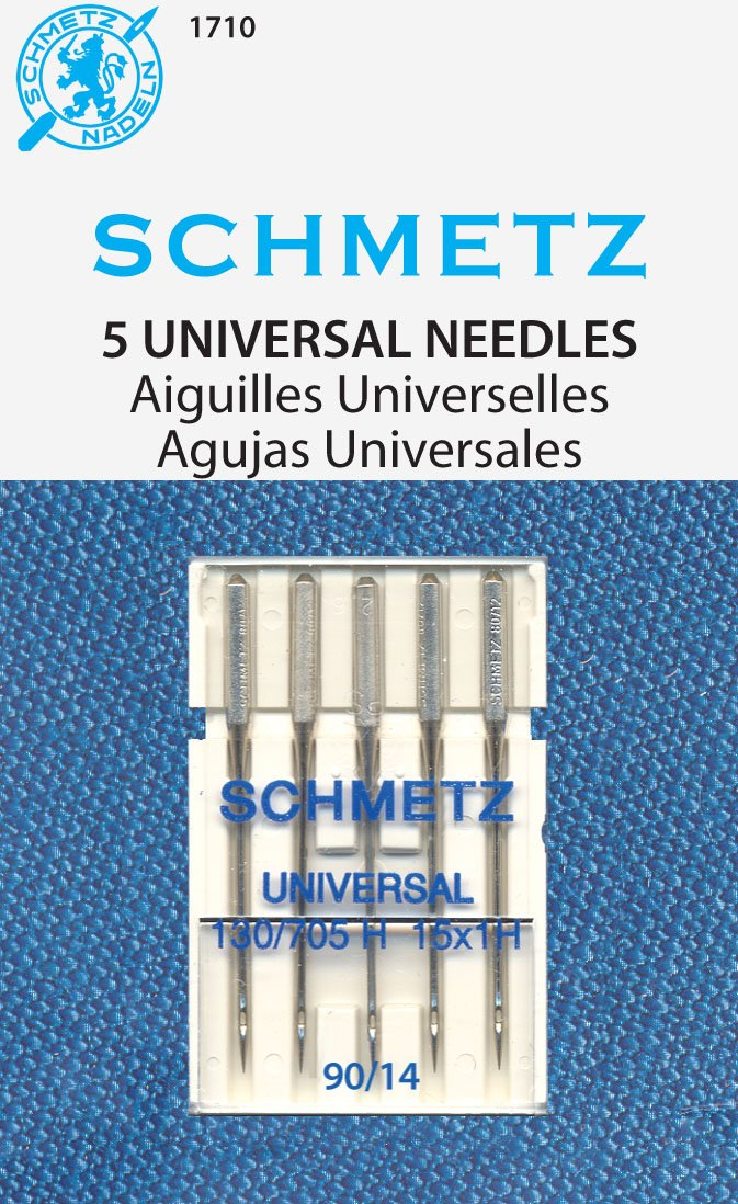 SCHMETZ Universal (130/705 H) 5 Household Sewing Machine Needles - Carded - Size 90/14 FBA_1710C