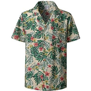 Pandapang Mens Summer Solid Color Button Down Cotton Linen Short Sleeve Shirts