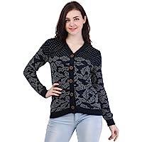 Kalt Women's V- Neck Full Sleeves Acrylic Sweater (Multi)
