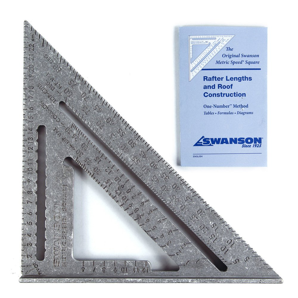 Swanson NA202 Metric Speed Square Layout Tool Aluminum