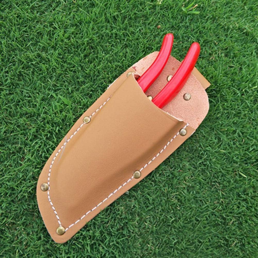 1 pieza Bolsa de poda de jardiner/ía Alicates de piel de vaca Tijeras Cubierta de tijeras Bolsa de herramientas marr/ón Cubierta de alicates