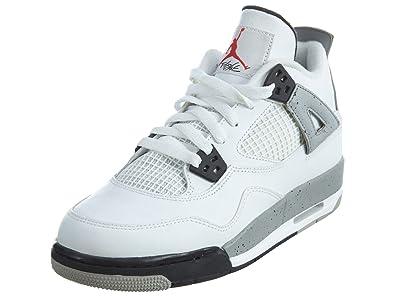 sale retailer d55a0 d1370 Nike Jungen Air Jordan 4 Retro OG BG Turnschuhe, Rot Schwarz (Weiß