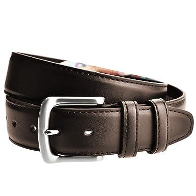 2c9a79a0cfa LIVAN -L0040- ceinture cache billet à fermeture éclaire zip longue doublé  en cuir TU105 cm Homme Marron foncé  Amazon.fr  Vêtements et accessoires