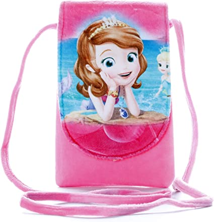 HC Toys LLP | Mermaid Princesses Soft Canvas Material Sling Bag for Girl Children Casual Purse | Pink