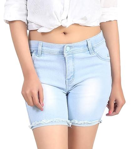 ICO Blue Star Light Blue Casual Denim Shorts Shorts