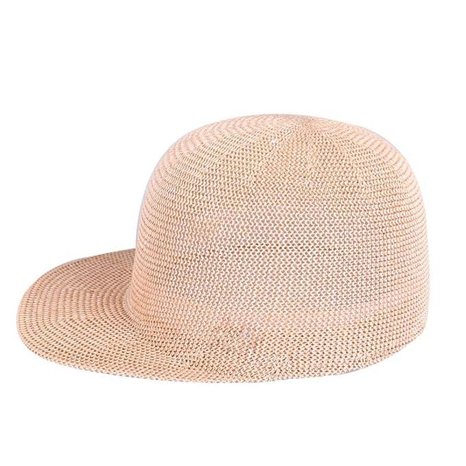 CHENGXIAOXUAN Sombrero Verano Lino Fibra De Césped Señoras Sombreros Gorras Gorra Ecuestre La Personalidad La Moda Sombrero De Paja Aleros Extendidos, ...