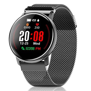 Canmixs Fitness Tracker Sports Watches with Heart Rate Monitor Waterproof Smart Watch for Android Phones iphone Compatible CM12 Stopwatch Wrist Strap ...