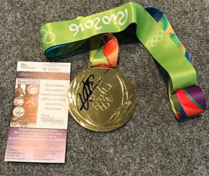 1ffb0090eb6af4 Usain Bolt Autographed Signed Jamaica Rio Olympics Gold Medal - JSA ...