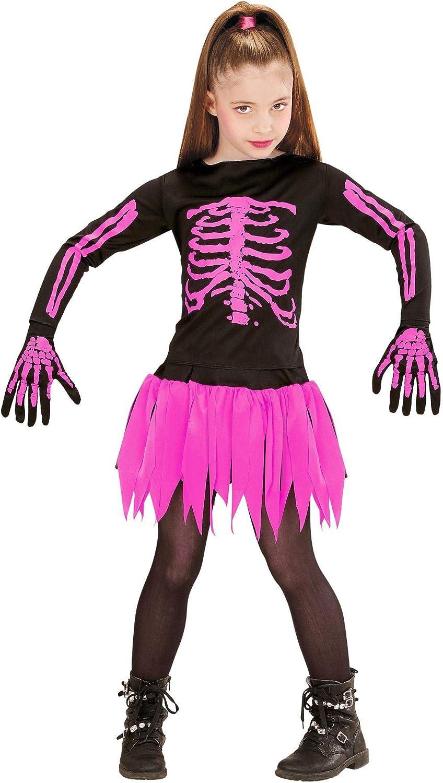 WIDMANN Esqueleto de la Bailarina Disfraz para niño, Multicolor, M ...
