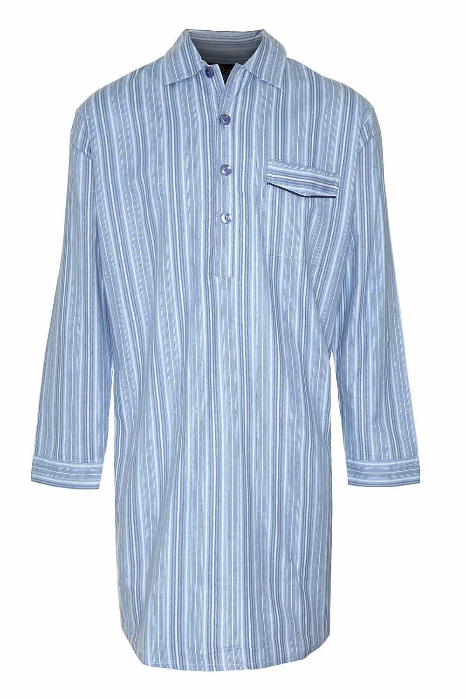 Mens Champion Quality Nightshirt Brushed Cotton Loungewear (XL (44-46), Light Blue) 3173