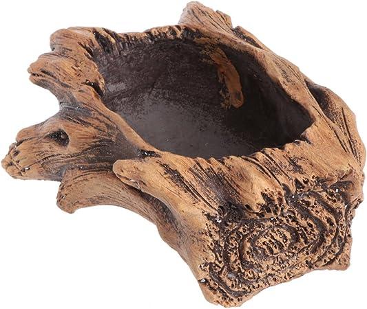 ESden Pot de fleurs en ciment imitation bois pour plantes grasses et bonza/ïs un 2 Ciment