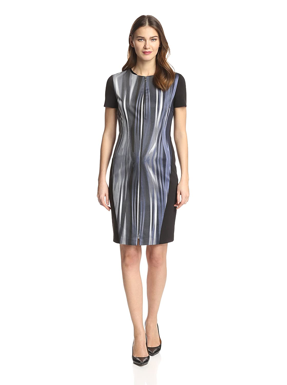 T Tahari Kaylee Metal Wire Blue Dress