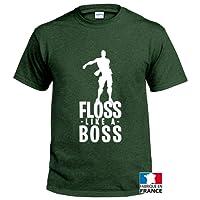 Floss T Shirt Fortnite Inspiration Like a BO$$ col Rond imprimé en France