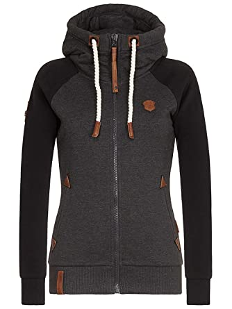 Sweater Hooded Zip Women Naketano Mach Klar Jetzt II Zip