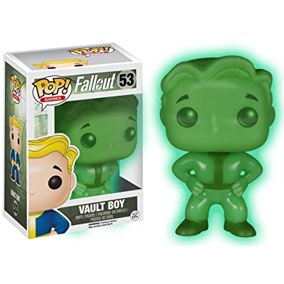 Funko Pop! Games: Fallout Vault Boy #53 Exclusive Glows in the Dark: Toys & Games