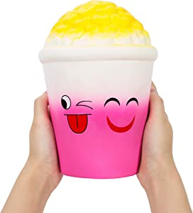 AILIMY Jumbo Popcorn Food Squishy Jumbo Cream Scented Soft Squishies Slow Rising Squeeze Toys