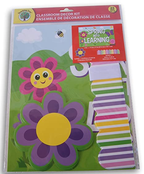 Amazon Com Teaching Tree Classroom Decor Spring Into Learning