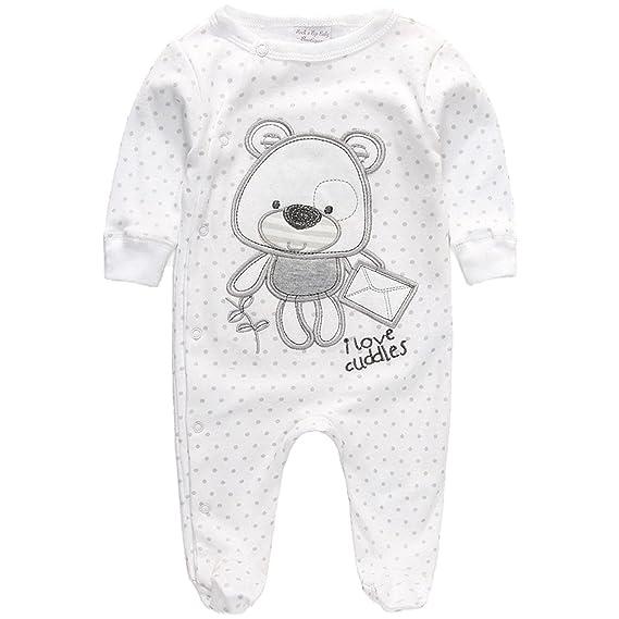 Pijama Pelele Bebé Blanco Unisex Osito (3-6 Meses)