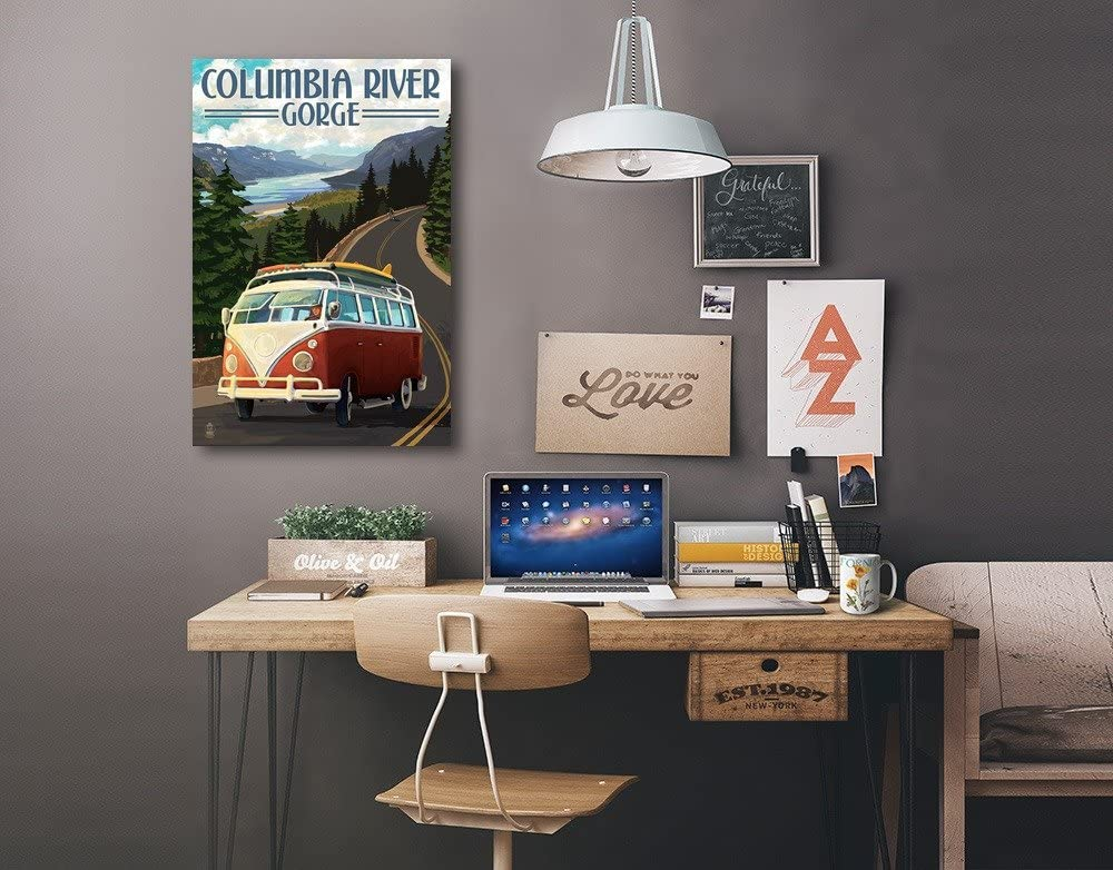 Camper Van 12x18 Gallery Wrapped Stretched Canvas Columbia River Gorge