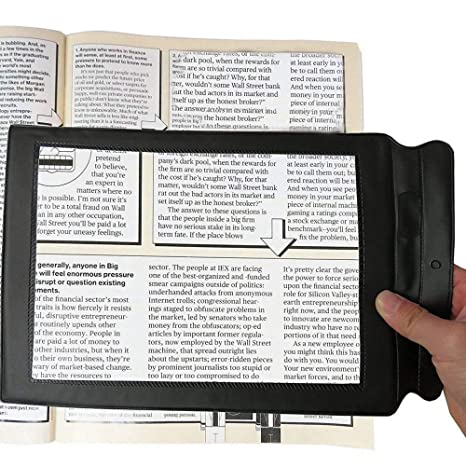Genmine Full Page Magnifier, 3X A4 Reading Magnifier Large Magnifying Sheet  Perfect for Reading Books &