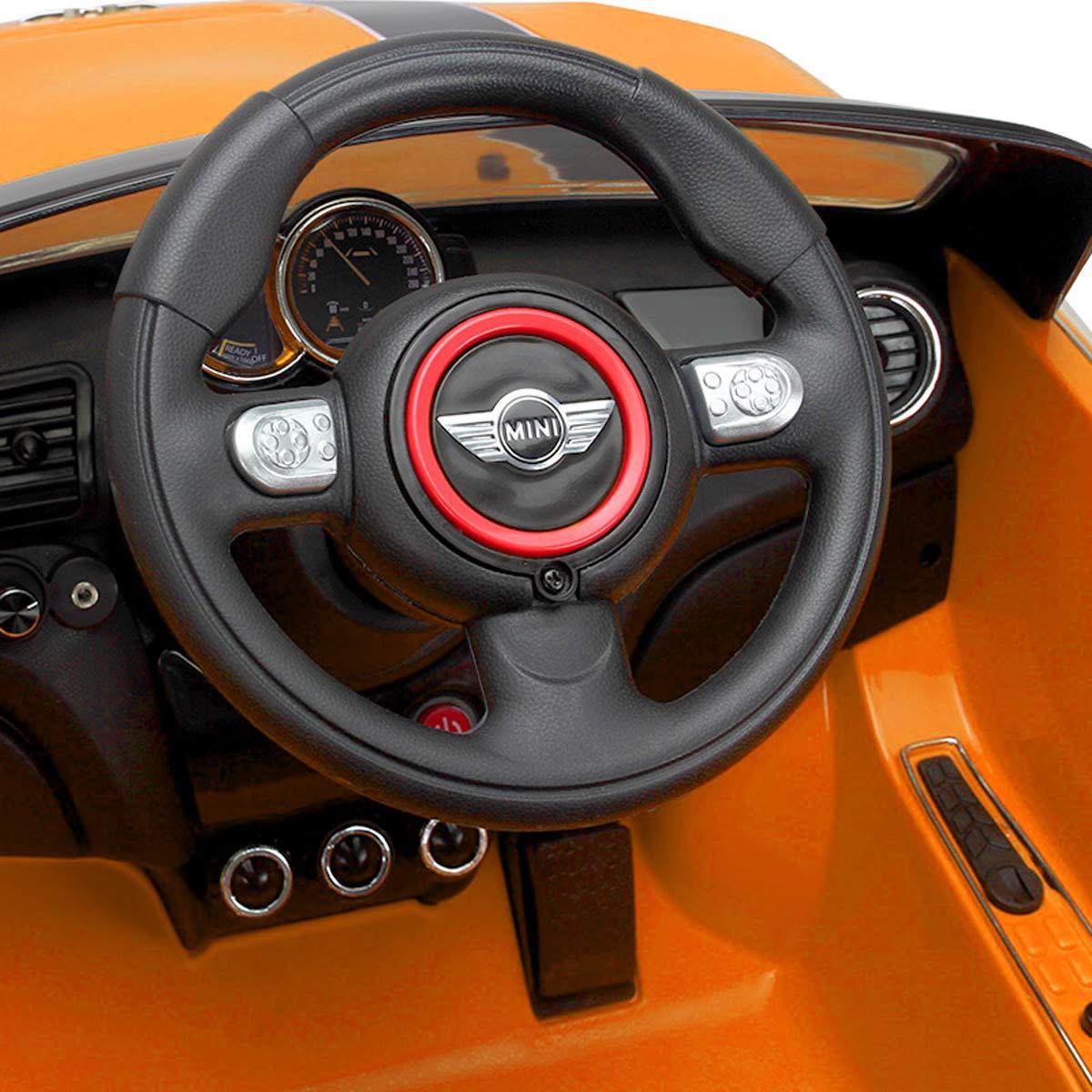 Playkin Coche Electrico Niños Mini Hatch, Color Amarillo: Amazon.es: Juguetes y juegos
